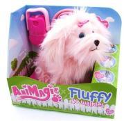 ANIMATIC Maskotka Piesek Fluffy go walkies