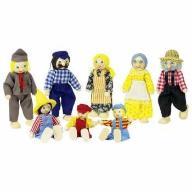 Rodzina laleczek ( 8 osób), kukiełki