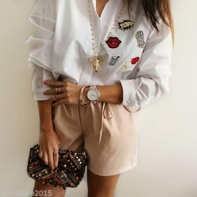 Zara koszula oversize z naszywkami L 40 6530587767
