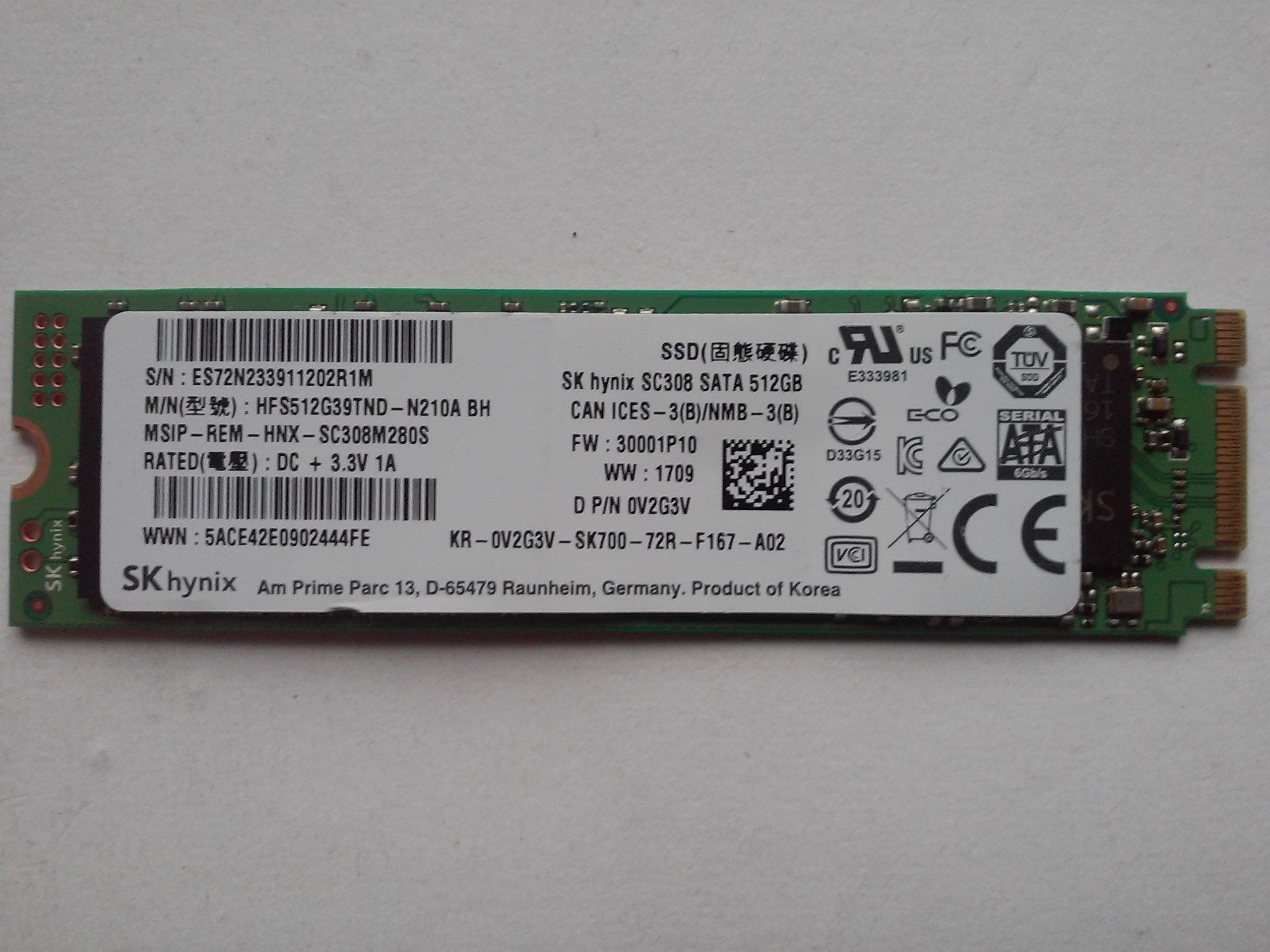 DYSK SSD M.2 2280 - MICRON, SK HYNIX - 512GB