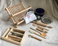 Zabawkowe akcesoria kuchenne Ikea drewno i metal