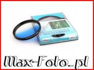 Filtr niebieski połówkowy 62mm do Canon Nikon Sony