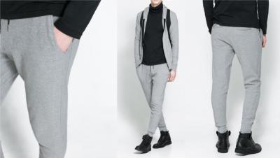 szare meskie spodnie zara