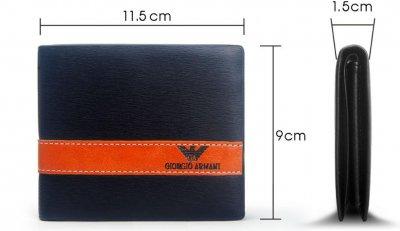 3e7713a7f7b27 męski portfel GIORGIO ARMANI nowy brązowy - 6235465364 - oficjalne ...