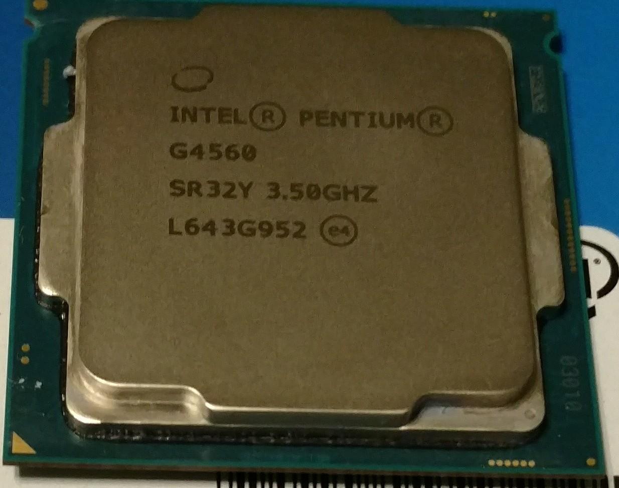Intel Pentium G4560 4 X 3.5GHz ( i3 6100 )