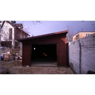 Garaż Drewniany 35m X 55m Dach Jednospadowy 6095576295