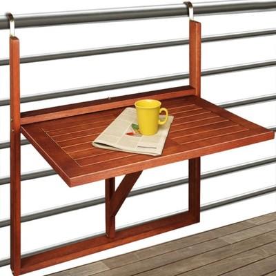 Stół Stolik Na Balkon Taras Składany Drewniany Fv