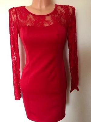 7a031edf47 czerwona sukienka na sylwestra asos 34 36 XS S hm - 6639124179 ...