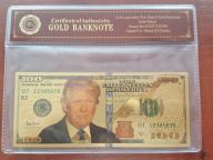 24 k ZŁOTY BANKNOT 100 $ DONALD TRUMP UNIKAT