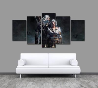 Obraz 5 Częściowy Wiedźmin The Witcher Geralt Iii 6850225614