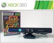 KINECT XBOX 360 BLACK + GRA GWARANCJA 12 MIESIĘCY