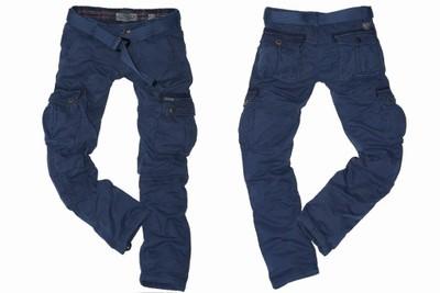 ADREXX 5132 GRANAT spodnie bojówki ocieplane r48*