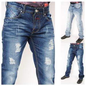 NOWOŚĆ przecierane męskie JEANSY spodnie tu 29