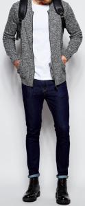 R81 sweter ASOS kardigan melanż rozpinany XXL