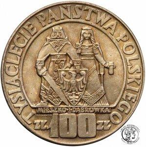 100 zł 1966 Mieszko i Dąbrówka Millenium st1-/2+