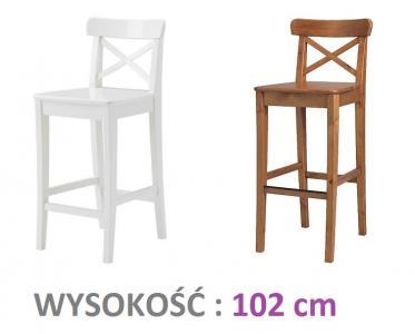 Ikea Krzesło Stołek Barowy Z Oparciem Ingolf 3387540056