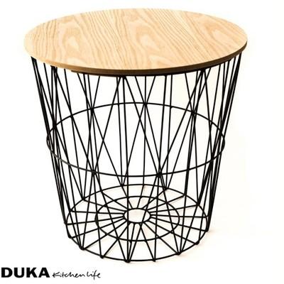 Stolik Kosz Druciany Metal Drewno Duka Serenity 6758009858