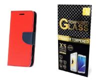 Case Etui Fancy +Szkło Huawei Mate 9 | Czerwony