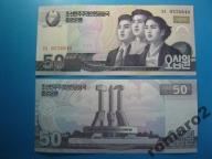 Korea Płn. Banknot 50 Won P-new 2002 2009 UNC