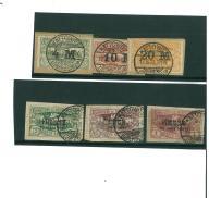Górny Śląsk kasowane znaczki pocztowe 1921 -1922 r