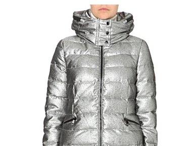 Moncler Hooded Vest srebrne