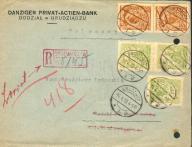 1928 - Grudziądz - polecony, Bank Gdański
