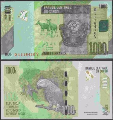 Kongo - P-101 - 1000 francs - 2013 - seria Q....V