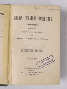 Święcicki-Historya literatury powszechnej 1909 r