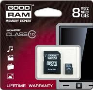 KARTA PAMIĘCI GOODRAM MICROSDHC 8GB+ADAPTER SD