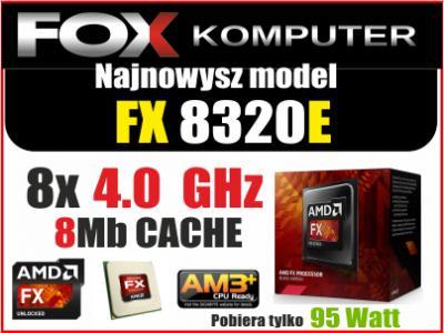 PROCESOR AMD FX-8320E 8x4.0GHz BOX AM3+ 36 m-cy GW