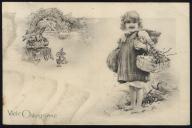 DZIEWCZYNKA czytające KRÓLIKI 1909.WIELKANOC 2880