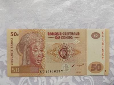 KONGO 50 FRANCS 2007 r. STAN ( UNC )