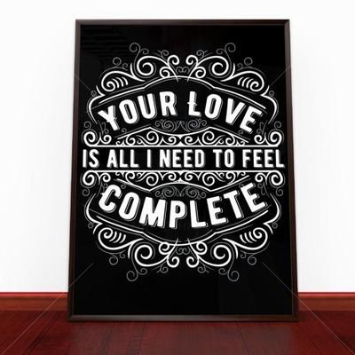 Plakat W Ramie Love 50x70 Cm 6684460559 Oficjalne
