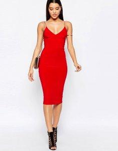 CLUB L sukienka obcisła czerwona rozmiar 40 B30
