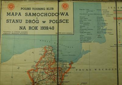 Mapa Samochodowa Touring Club Polska 1939 Rok 4354180837