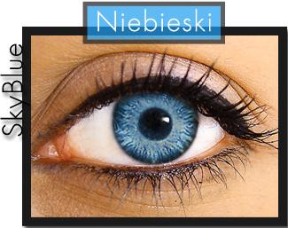 Świeże Promocja - Soczewki Niebieskie jak Niebo (S) - 3187144342 JA47