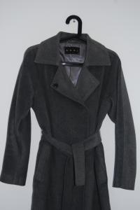 Płaszcz AGGI , szary, wiązany, sale, wyprzedaż