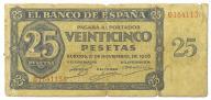 33.Hiszpania, 25 Peset 1936 rzadki, P.99.a, St.3-