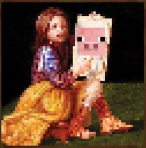 Minecraft dziewczynka z świnką - plakat 61x61 cm