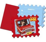 Zaproszenia urodzinowe kopertami Postman Pat 6szt