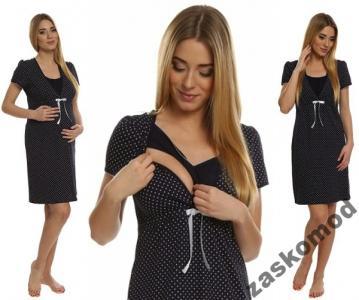 de3185bfc36f0b Koszula ciążowa RADOŚĆ M Granat ITALIAN FASHION - 6057386165 ...