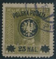 Austria nadruk Polska Poczta 25 Hal.