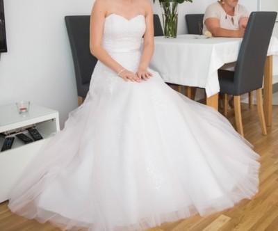 Suknia ślubna Magnolia Różowy Tiul 3638 Welony 6761766839