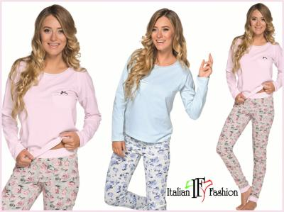 a48f19dab57d22 Piżama Jowita dł/dł L Italian Fashion 100% BAWEŁNA - 5687857650 ...