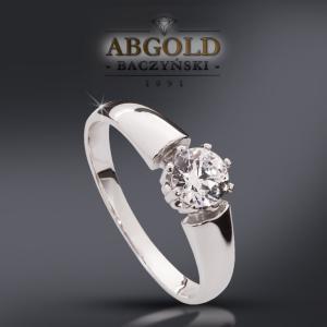 ABgold Pierścionek z brylantem 0,5ct(!!) Vs/G w24h