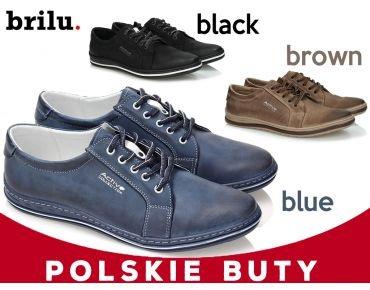 706f2199 SKÓRZANE PÓŁBUTY MĘSKIE POLBUT 320 POLSKIE 39-47 - 6563353089 ...