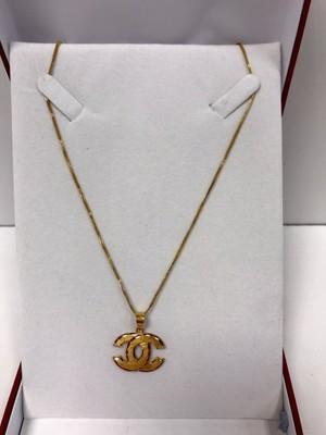 7becd65b0c534 0.750 Złoty naszyjnik Chanel - 6919844596 - oficjalne archiwum allegro
