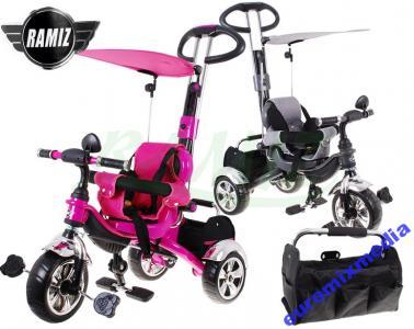 ROWER rowerek Trójkołowy rośnie z dzieckiem pasy !