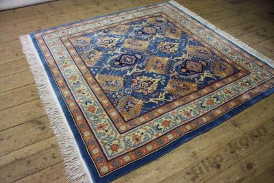 Pięknie Zdobiony Orientalny Dywan 210x210 Połysk