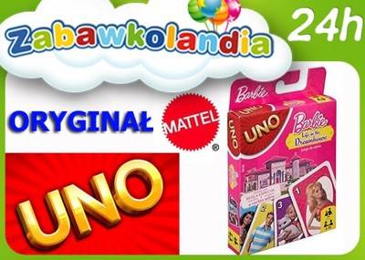 Mattel Gra Karciana Uno Karty Barbie Oryginal Hit 6242155774